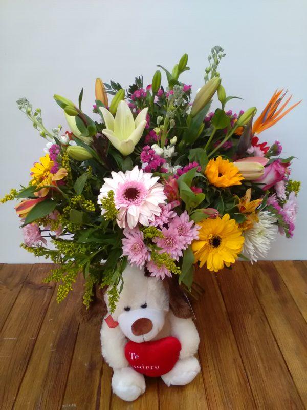 Mirada - Bouquet flor variada + peluche