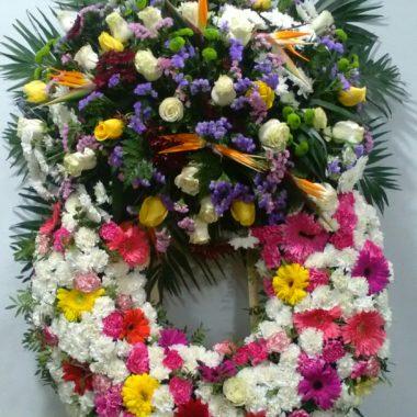 Corona de flores difunto