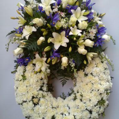 Corona flores naturales difunto